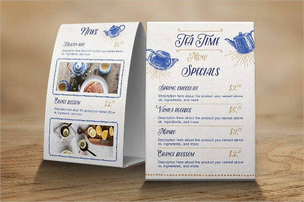 9 garden party menu designs templates free premium for Tea party menu template