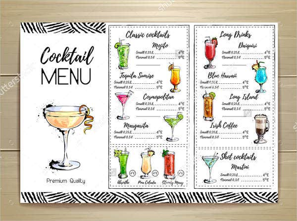 cocktail party menu 9 garden menu designs templates free amp premium 30922