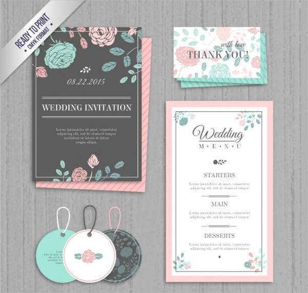 Free Printable Garden Party Menu Template