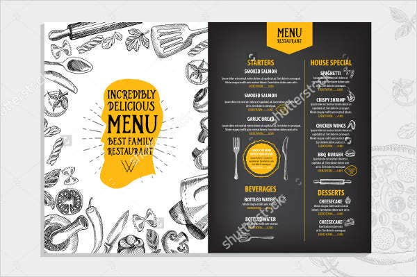birthday lunch party menu template