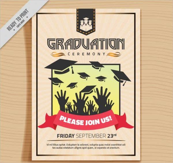 graduation lunch party menu template