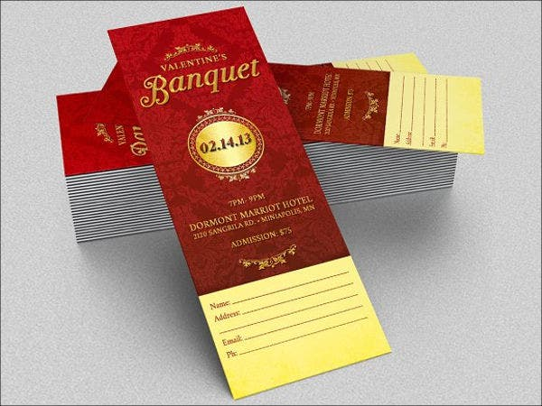 Valentine Banquet Ticket Template