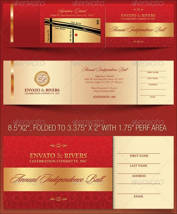 8 banquet ticket templates free psd ai vector eps download