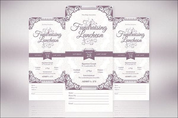 Vintage Banquet Ticket Template