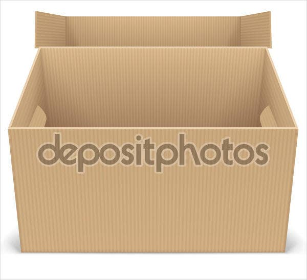 cardboard box envelope template