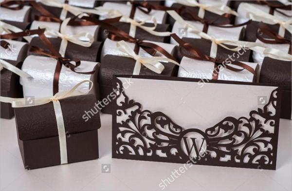 wedding box envelope template