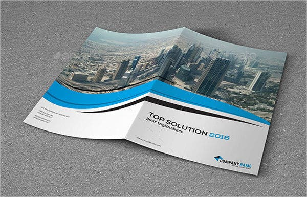 Corporate Bifold Brochure Mockup