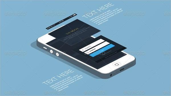 flat iphone app mockup
