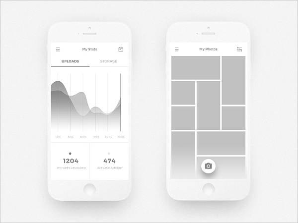 Android App UI Mockup