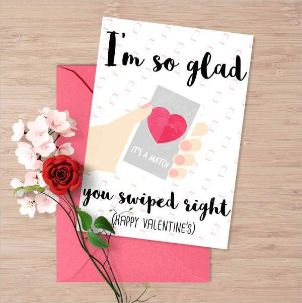 flash valentines greeting card