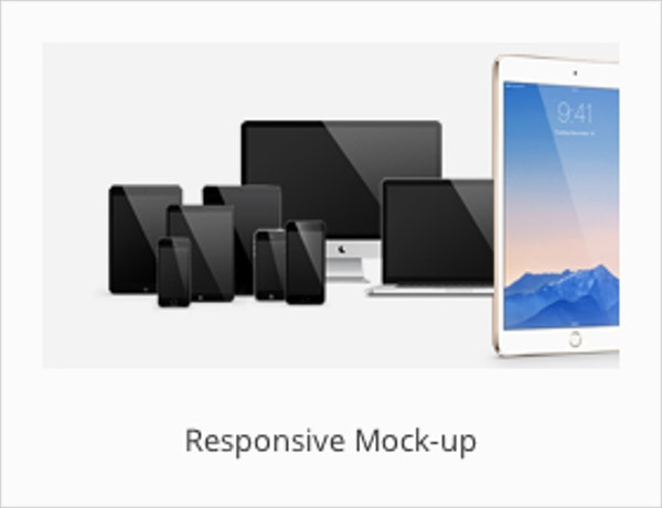 responsive iphone app mockup