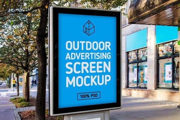 Landscape Outdoor Poster Mockup