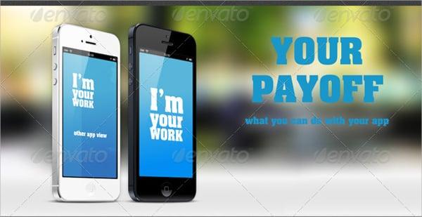 iphone app banner mockup