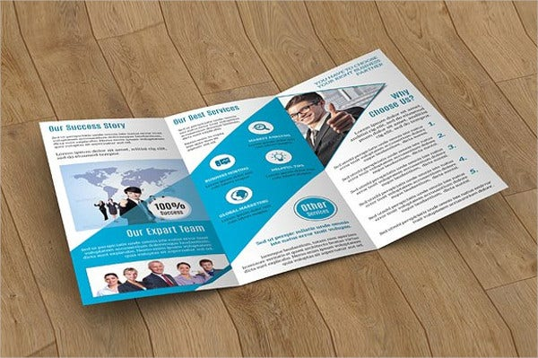 corporate company trifold brochure mockup