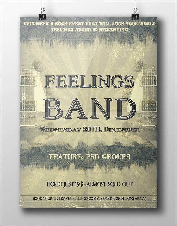 6+ Band Poster Mockups - PSD, Indesign, AI Format Download | Free ...