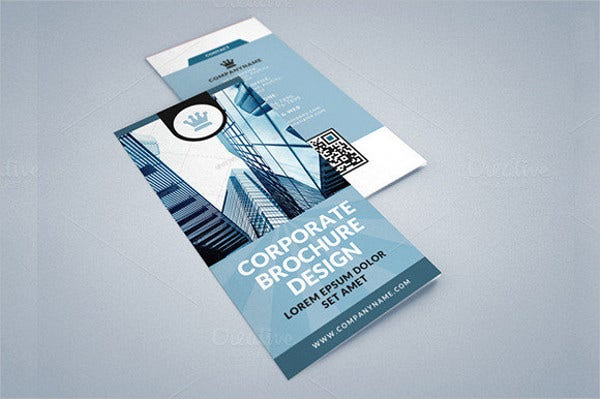 clean corporate brochure mockup