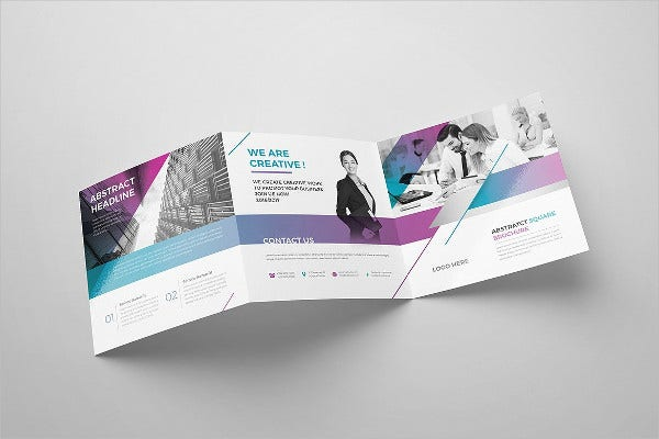 Corporate Square Brochure Mockup