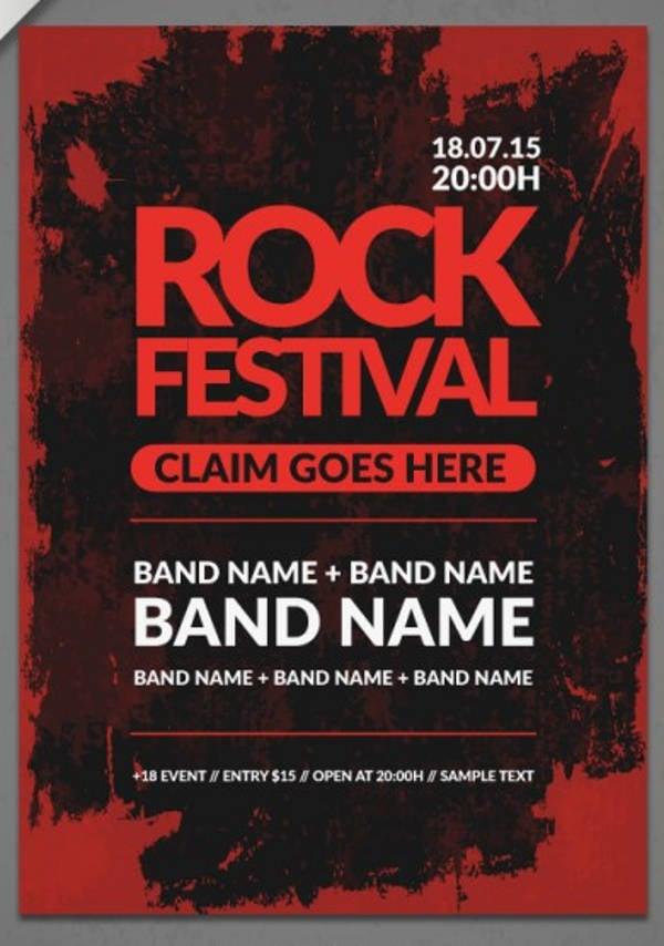 rock band poster mockup