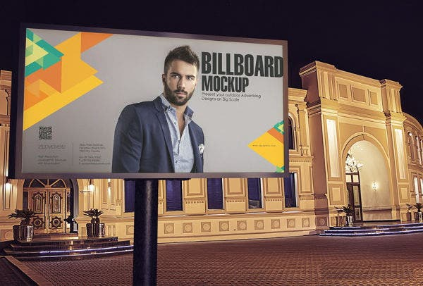 street landscape billboard mockup