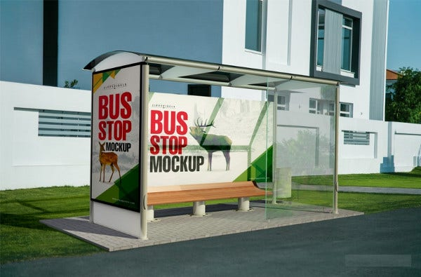 Landscape Outdoor Billboard Mockup