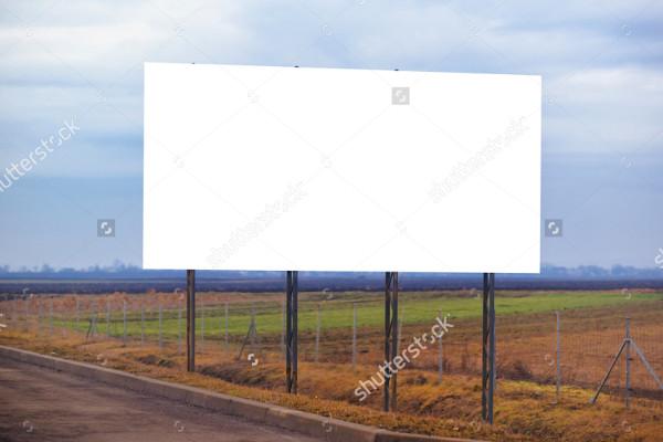 landscape blank billboard mockup
