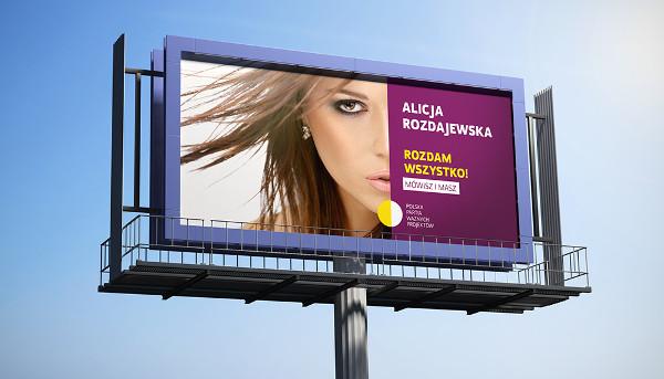 landscape billboard poster mockup