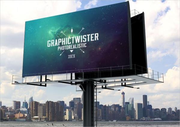 Landscape Ad Billboard Mockup