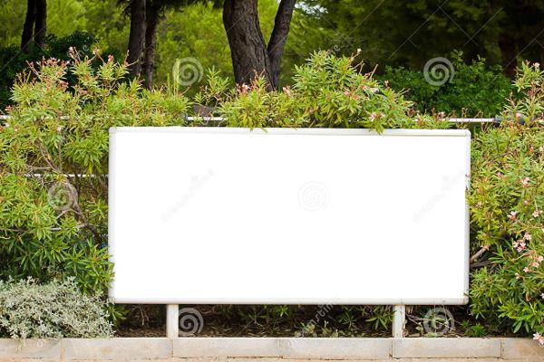 garden landscape billboard mockup