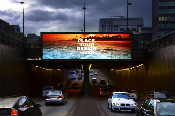 Creative Landscape Billboard Mockup