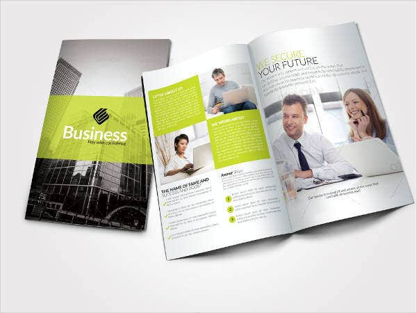 Green Business Bifold Brochure