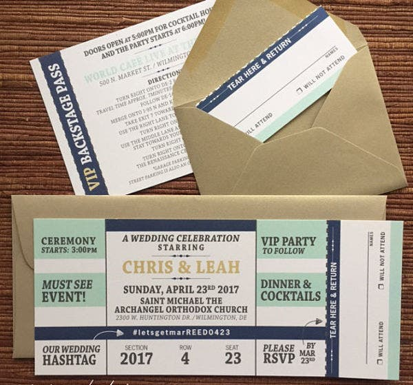 Ticket Envelope Templates  Free Printable Word Psd Pdf