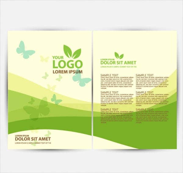 9 Green Brochures Editable Psd Ai Vector Eps Format Download