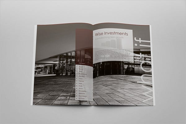 Corporate Magazine Brochure Mockup