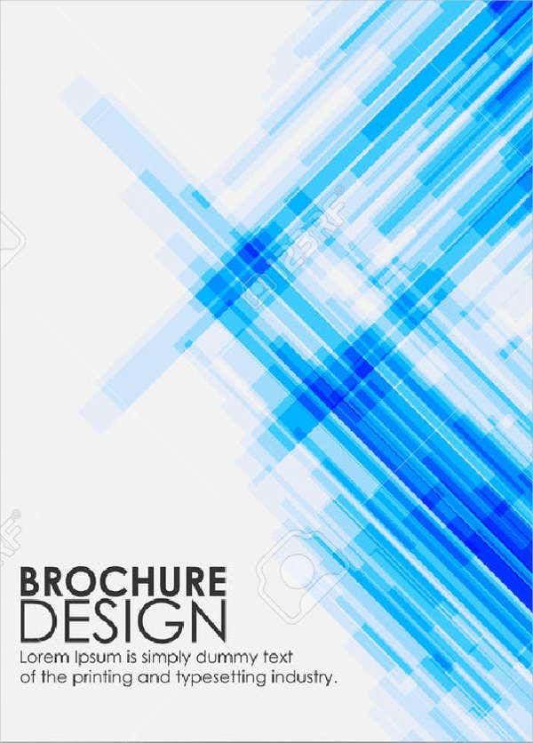abstract modern technology brochure