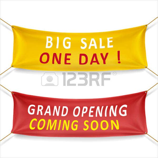 grand opening banner for sale