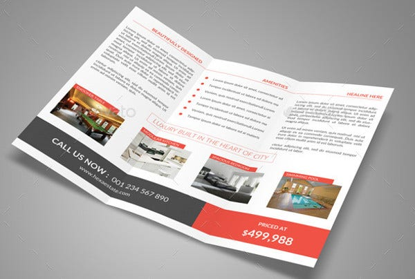 Corporate Real Estate Trifold Brochure