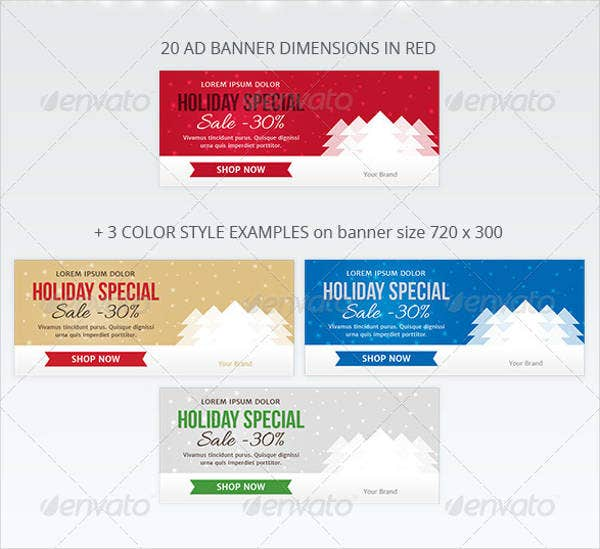 Advertising Christmas Web Banner