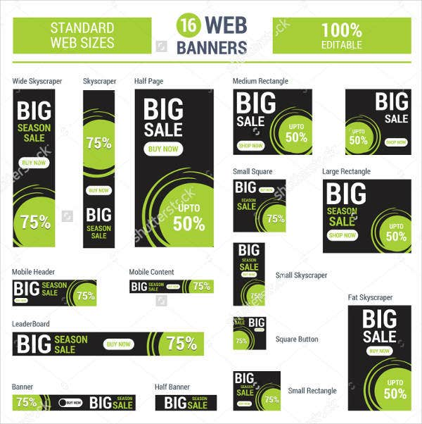 Advertising Vertical Web Banner