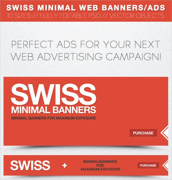 Minimal Web Banner Advertising