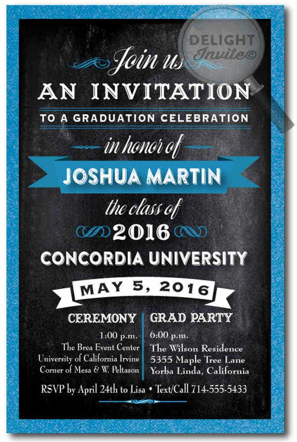 business card graduation invitation