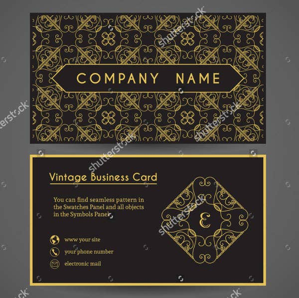 vintage business invitation card