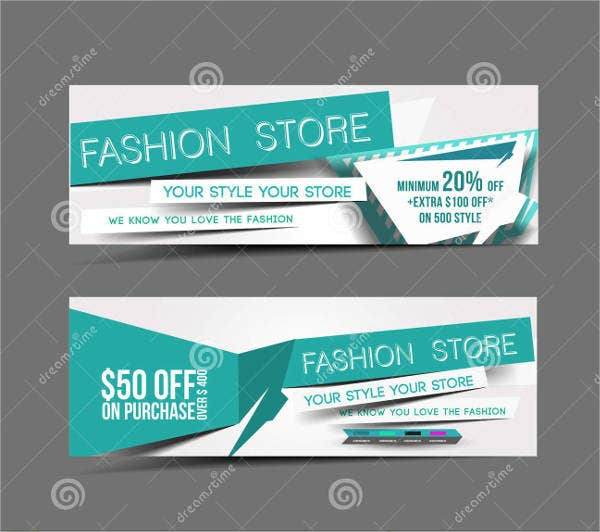 Advertising Fashion Store Web Banner