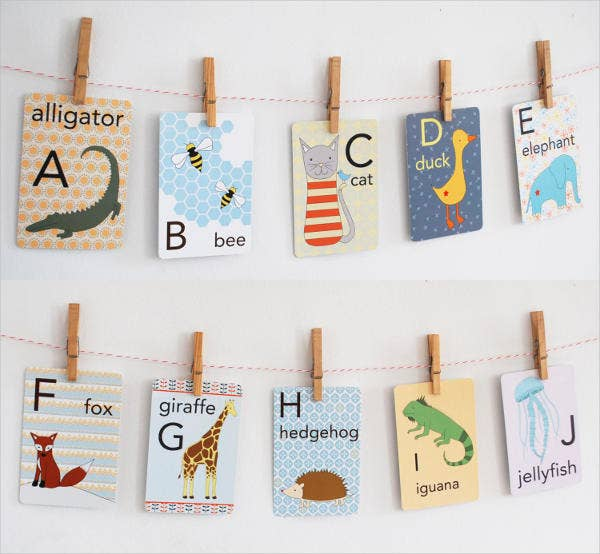 7  baby flash cards