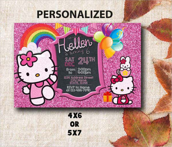 hello kitty photo invitation2