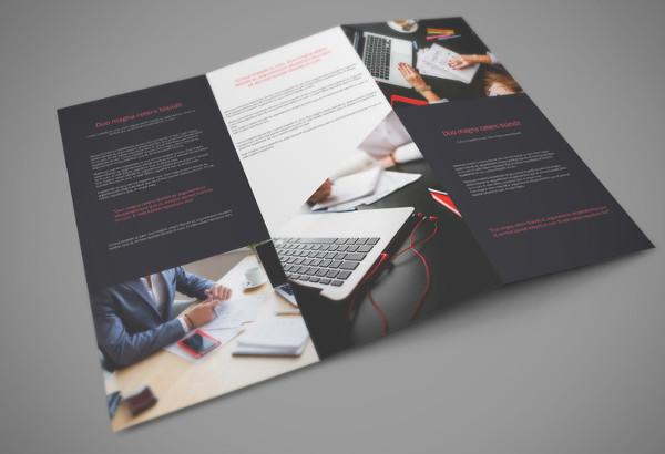 modern business brochure mockup