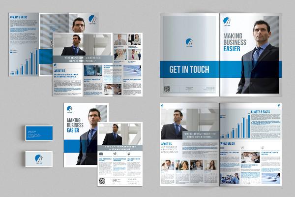 brochure business card stationery mockup