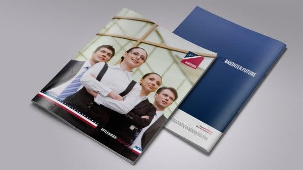 bifold square business brochure mockup