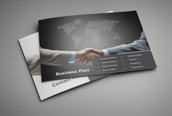 A4 Landscape Business Brochure Mockup