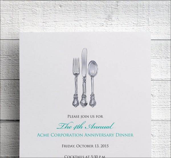 20  corporate invitation cards