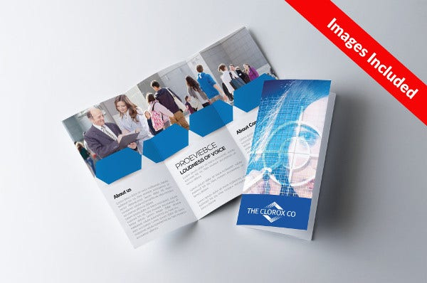 corporate training trifold brochure